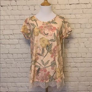 LC Lauren Conrad Tops - LC Lauren Conrad Blouse with Tie Back Bow NWT